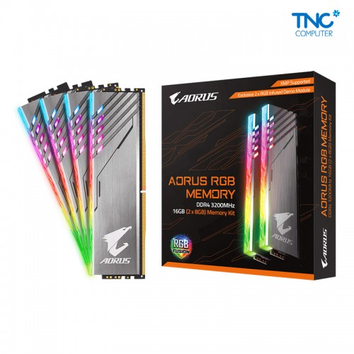 Ram AORUS RGB 16GB (2x8GB) 3200MHz (With Demo Kit)